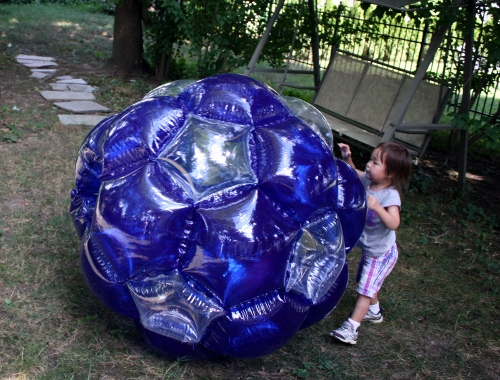 rolling giant inflatable ball
