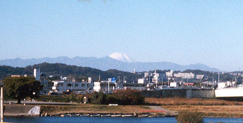 Mount Fuji from outside my apartment